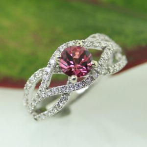 Pink Tourmaline, Diamonds and White gold. Yum!